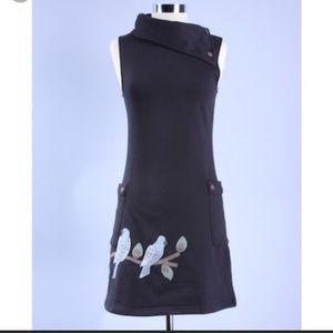 Anthro Synergy Brand Bird Dress XL BEAUTIFUL!